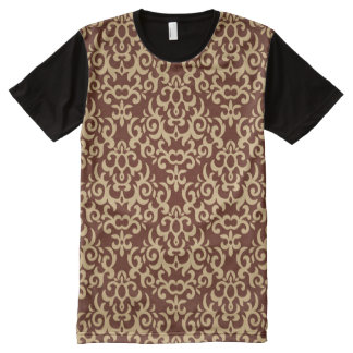 Damask pattern on gradient background All-Over print T-Shirt