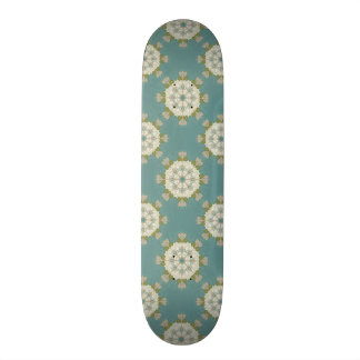 Damask pattern with abstract elements skate board decks