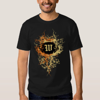 Damask Pattern with Monogram Letter W T-shirt