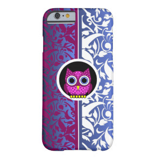 damask pattern with owl barely there iPhone 6 case