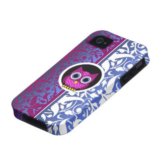 damask pattern with owl Case-Mate iPhone 4 cover