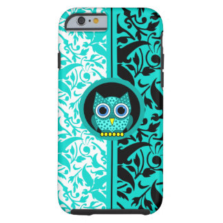 damask pattern with owl tough iPhone 6 case