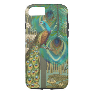 Damask Peacock & Feathers and Lily Pads iPhone 7 Case