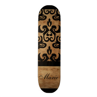 Damask Personalize Name Skate Deck