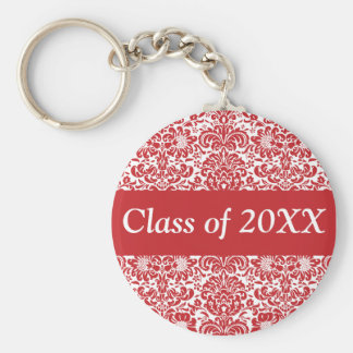 Damask Personalized Class Of Keychain