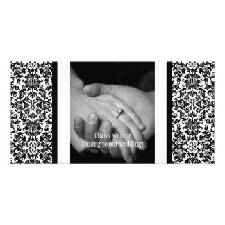 Damask Photo Thank You Card