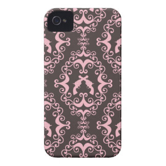 Damask pink and black guns grunge western pistols iPhone 4 cover