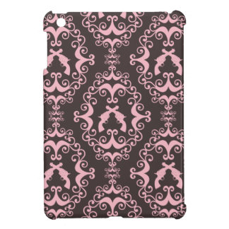 Damask pink black guns grunge western pistols chic cover for the iPad mini
