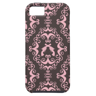 Damask pink black guns grunge western pistols chic tough iPhone 5 case