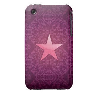 damask pink star on inksplash iPhone 3 case