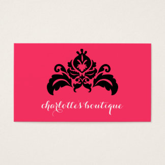 Damask Print Business Cards