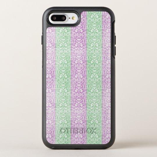 Damask Ribbion Candy Stripes OtterBox Symmetry iPhone 7 Plus Case