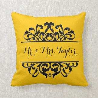 Damask Signature DIY CHOOSE YOUR BACKGROUND COLOR Cushion
