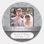 Damask Silver (25th) Anniversary sticker