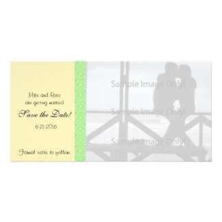 Damask Special Occasion Wedding Save the Date Card Picture Card