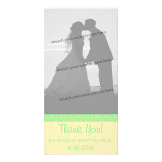Damask Special Occasion Wedding Thank You Card Photo Cards