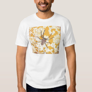 Damask Spider Halloween T Shirts