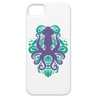 Damask Squid Ultra Violet on Arcadia Case For The iPhone 5