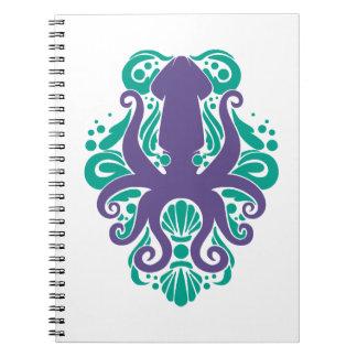 Damask Squid Ultra Violet on Arcadia Notebook