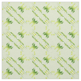 Damask style lime green pattern. fabric