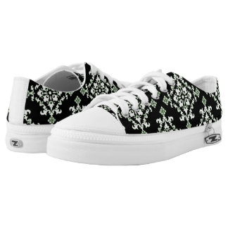 Damask style low tops