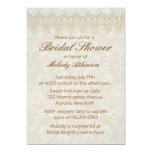 Damask Swan Elegance Ivory - Bridal Shower 13 Cm X 18 Cm Invitation Card