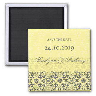 Damask Swirls Lace Butter Save The Date Magnet Magnets
