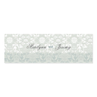 Damask Swirls Lace Dream Custom Thank You Gift Tag Pack Of Skinny Business Cards