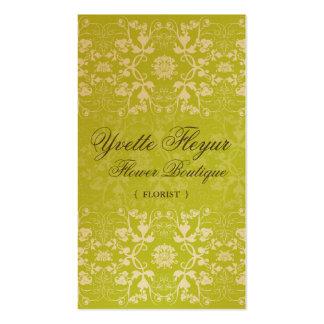 Damask Swirls Lace Lime Custom Profile Card / Business Cards