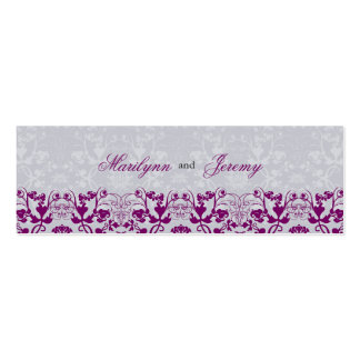 Damask Swirls Lace Orchid Thank You Gift Tag Business Card Template