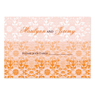 Damask Swirls Lace Sorbet Custom Escort Place Card Business Cards