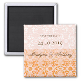 Damask Swirls Lace Sorbet Save The Date Magnet Refrigerator Magnets