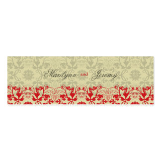 Damask Swirls Lace Spice Custom Thank You Gift Tag Pack Of Skinny Business Cards