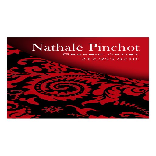 Damask swoop graphic artist illustrator zazzle for Illustrator business cards
