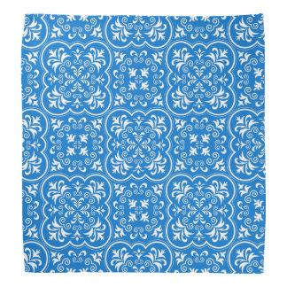 Damask True Blue Classic Monochromatic Bandana