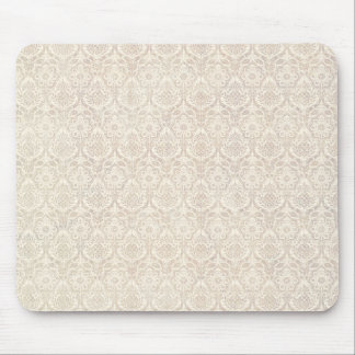 Damask Vanilla Pattern Mouse Pad