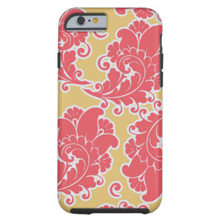 Damask vintage paisley girly chic floral pattern tough iPhone 6 case