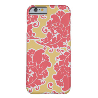 Damask vintage paisley girly chic floral pattern barely there iPhone 6 case
