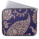 Damask vintage paisley girly floral chic pattern laptop computer sleeve