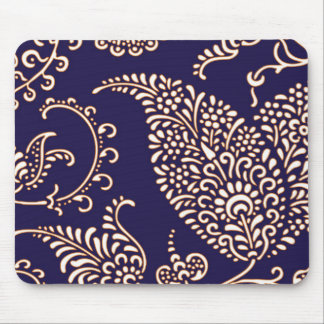 Damask vintage paisley girly floral chic pattern mouse pads