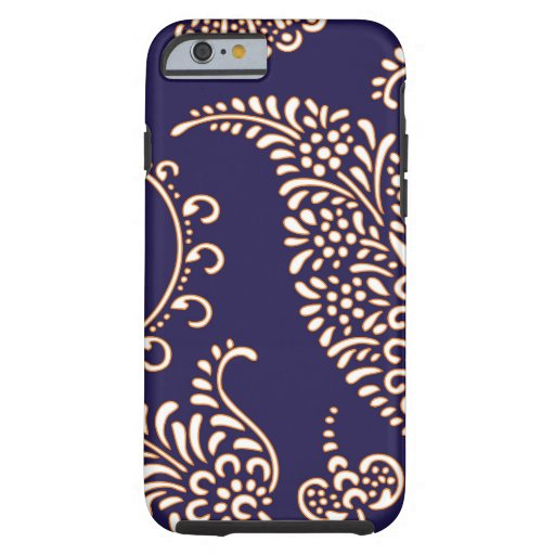 Damask vintage paisley girly floral henna pattern iPhone 6 case