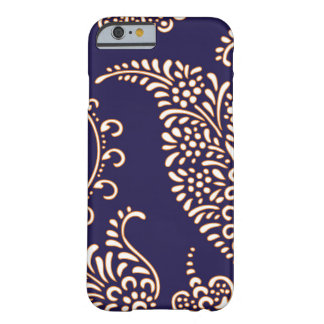 Damask vintage paisley girly floral henna pattern barely there iPhone 6 case