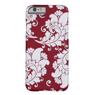 Damask vintage paisley wallpaper floral pattern barely there iPhone 6 case