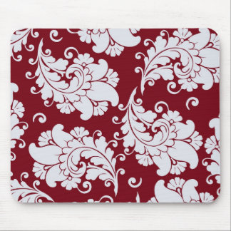 Damask vintage paisley wallpaper floral pattern mouse pad