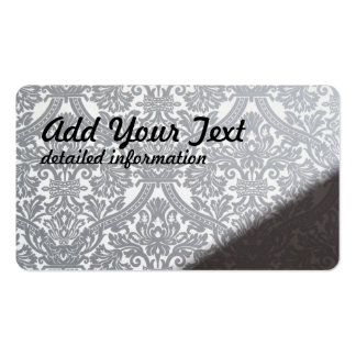 damask wall pattern Double-Sided standard business cards (Pack of 100)