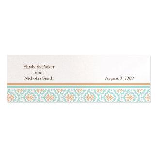 Damask Wallpaper Floral Wedding Website Card Business Cards