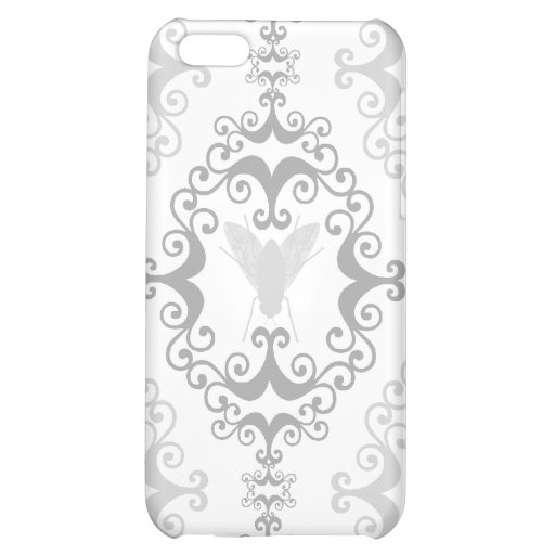 Damask wallpaper insect fly flies pattern case iPhone 5C covers