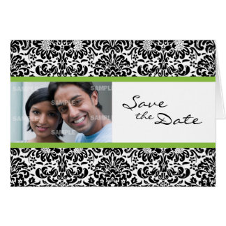 Damask Wallpaper Save the Date Card