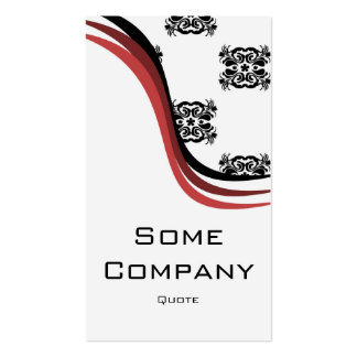 Damask Wave (Cherries) Business Card Template