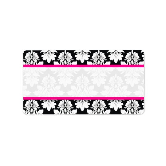 Damask Wedding Envelope Address Labels